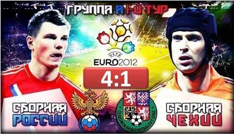 Россия - Чехия. Группа А. Евро-2012.