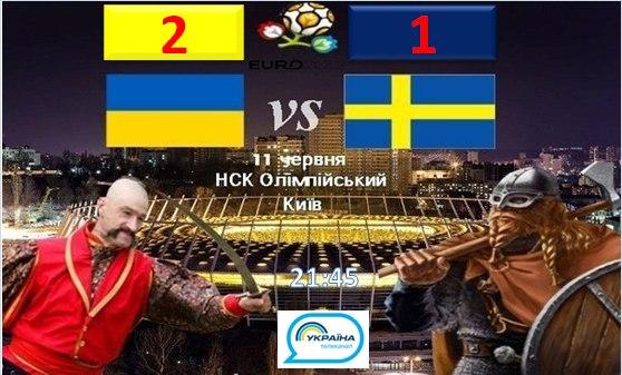 Чемпионат Европы – 2012. 1-й тур. Группа D. Украина - Швеция
